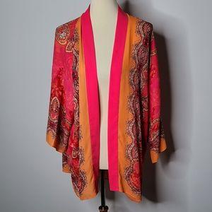 Chico's colorful kimono size 1
